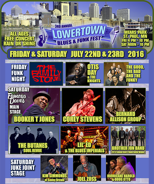 Lowertown Blues & Funk Fest 2016