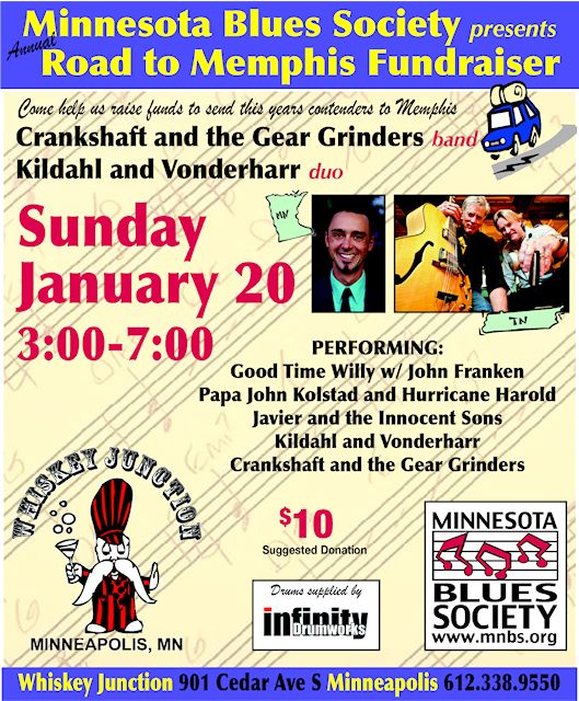 Road To Memphis Fund Raiser @ Whiskey Junction Jan. 20 2013, 3-7 pm