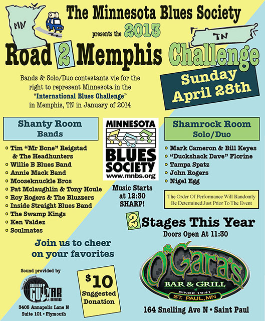 2013 Road To Memphis Challenge Poster