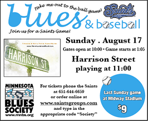 Blues and Baseball Poster