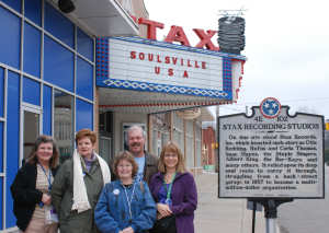 Lynn, Mary Kay,Judy, Jake & Melody at Stax.