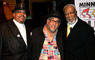 Jimi 'Prime Time' Smith, Famous Dave Anderson, Big John Dickerson at 2014 Mn Blues Hall of Fame