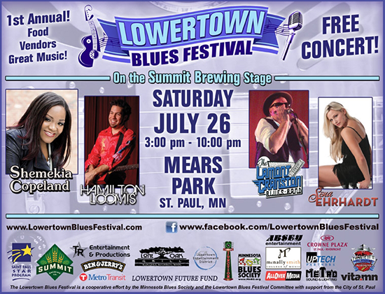 Lowertown Blues Festival Poster