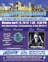 Lowertown Blues & Funk Festival Fundraiser poster