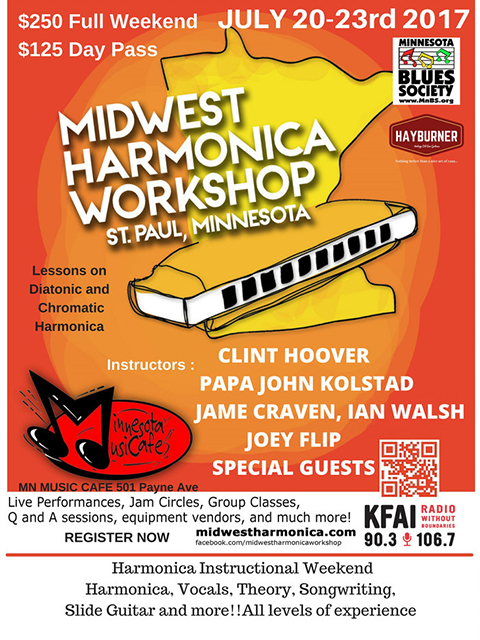 Midwest Harmonica Workshop Poster