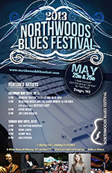 Northwoods Blues Festival Poster