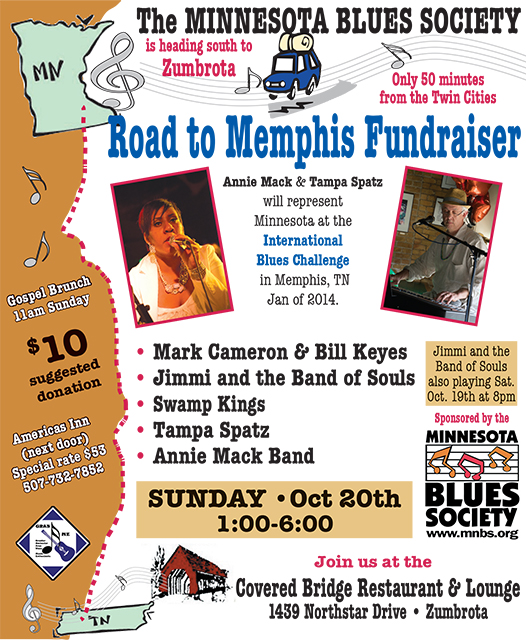 Road To Memphis 2013 October Fundraiser Poster