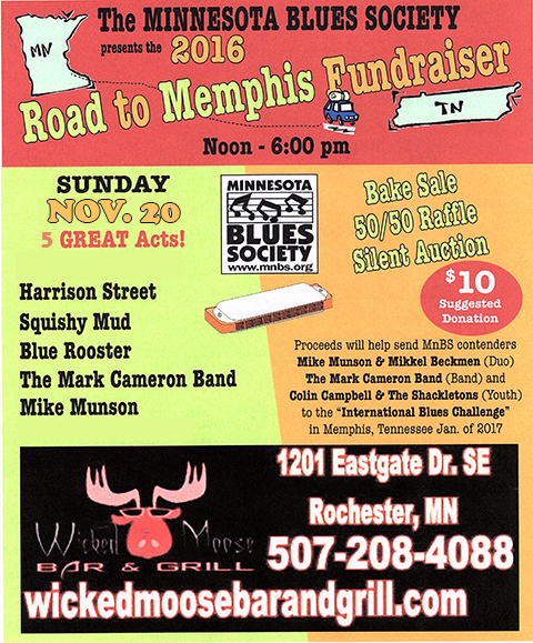 Road to Memphis Wicked Moose Fundraiser 2016